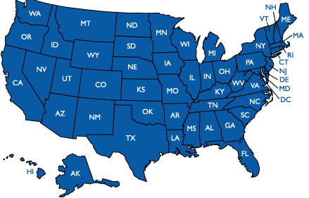 States Perform Map